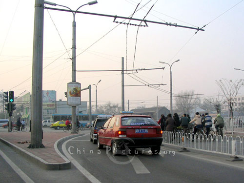 Modern links such as the Third Ring Road keep the traffic flowing in Beijing