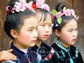 Miao girls in Langde Village, Guizhou
