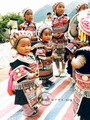 Intricately dressed-up children, Guizhou