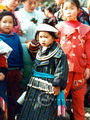 Miao girl wearing silver necklace