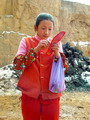 Village girl in the northern China