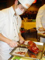Slicing the Roasted Duck