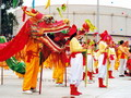 Dragon dances are the most spectacular dances performed at the Chinese New Year.