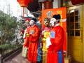 Local opera performance was given on street during the Chinese new year period.