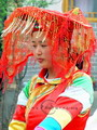 A bride of ethnic minority