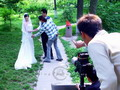 Taking wedding photos