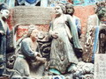 Living statues mirrors the respectful tradition-- filial pirty in the dominent culture Confucionism of ancient China.