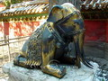 Bronze elephant, Forbidden City, Beijing