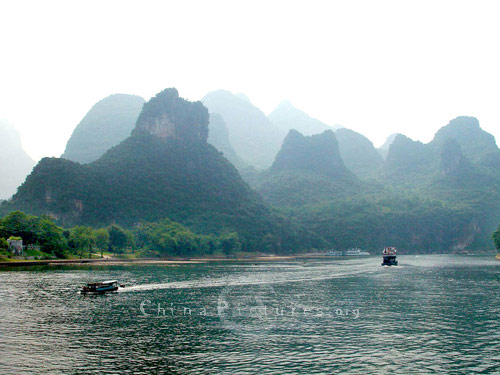 Views like this confirm that the landscape around Guilin forms one of the world's inspirational beauty spots.