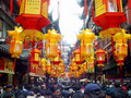 Bazaar around Yuyuan Garden decorated with Chinese lanterns, Shanghai