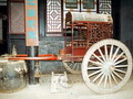 Pingyao museum display, horse-drawn vehicle from ancient China