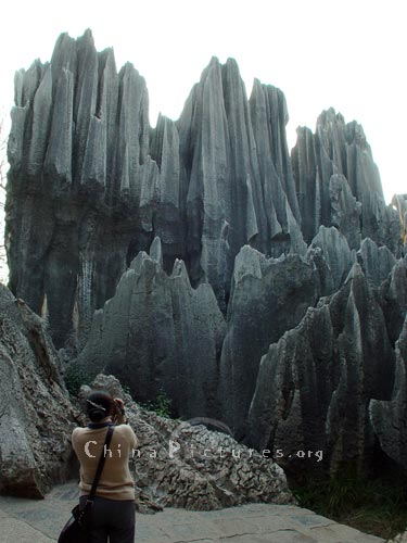 A good view for photography, Yunnan Stone Forest