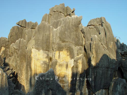 Close up to the pillar, Yunnan Stone Forest.