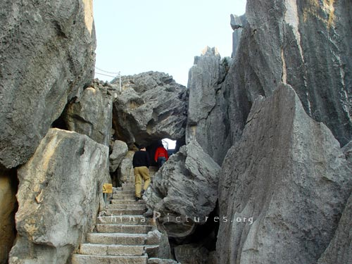 Limestone pillars in fantastic shapes, Kunming Stone Forest.