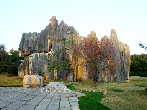 Spring and autumn are the best seasons to visit Kunming Stone Forest.
