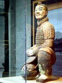 Color-painted terra cotta warrior