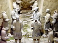 Armoured terra cotta soldiers guarding the chamber