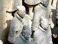 Terracotta warriors wear topknots.