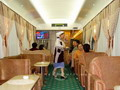 Dining car on the nonstop express
