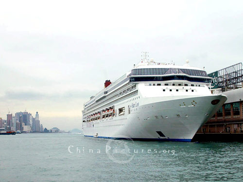 This modern ocean cruiser prepares to set sail. Cruising is fast becoming the number one holiday choice for people seeking luxury, good food and new horizons.