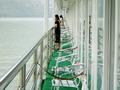 Passengers aboard the Victoria [Beidou] admire the scenery.