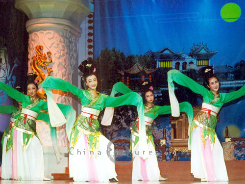 "The Tang Dynasty Dinner Show is performed by the ""Tang Dynasty Song & Dance Troupe""."