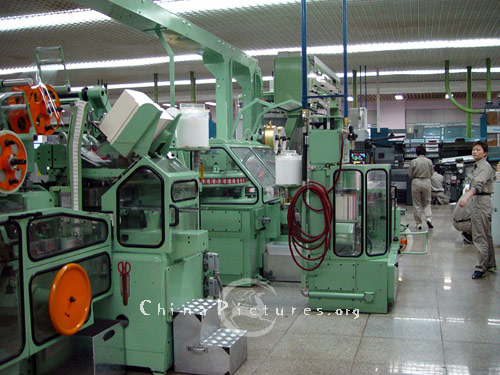 Production line of Kunming Cigarette Factory.